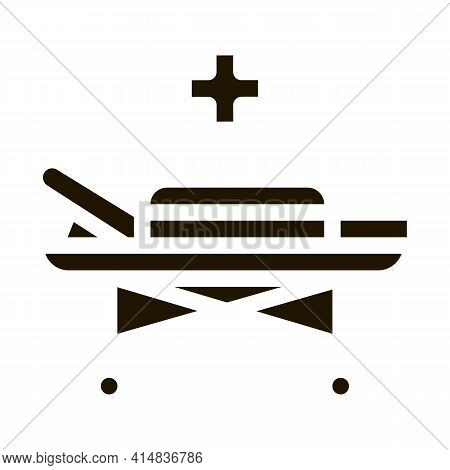 Medical Wheelchair Glyph Icon Vector. Medical Wheelchair Sign. Isolated Symbol Illustration