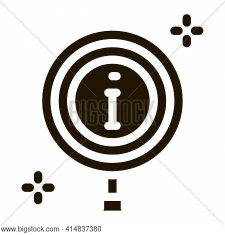 Informational Study Glyph Icon Vector. Informational Study Sign. Isolated Symbol Illustration