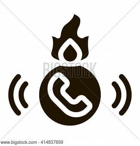 Help Hotline Glyph Icon Vector. Help Hotline Sign. Isolated Symbol Illustration