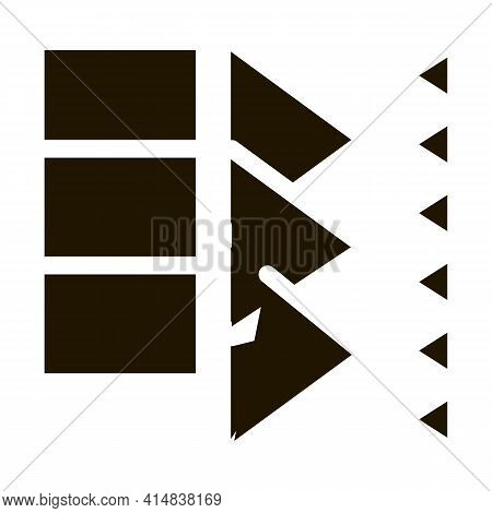 Sound Coming In Door Glyph Icon Vector. Sound Coming In Door Sign. Isolated Symbol Illustration