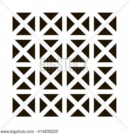 Three D Floor Tiles Glyph Icon Vector. Three D Floor Tiles Sign. Isolated Symbol Illustration