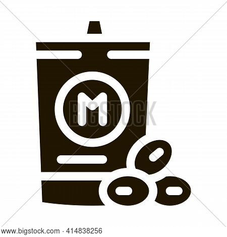 Packaged Mayonnaise Glyph Icon Vector. Packaged Mayonnaise Sign. Isolated Symbol Illustration