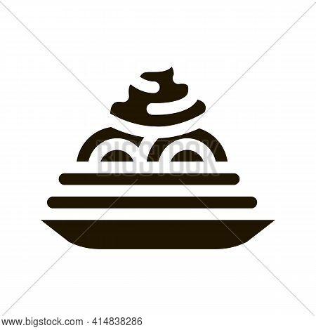 Mayonnaise Seasoning Food Plate Glyph Icon Vector. Mayonnaise Seasoning Food Plate Sign. Isolated Sy