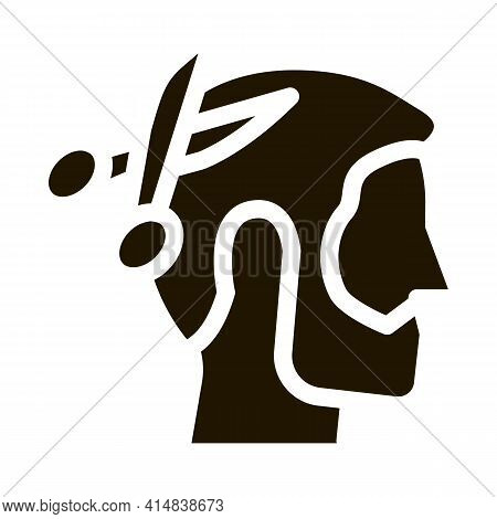 Muslim Man Haircut Glyph Icon Vector. Muslim Man Haircut Sign. Isolated Symbol Illustration