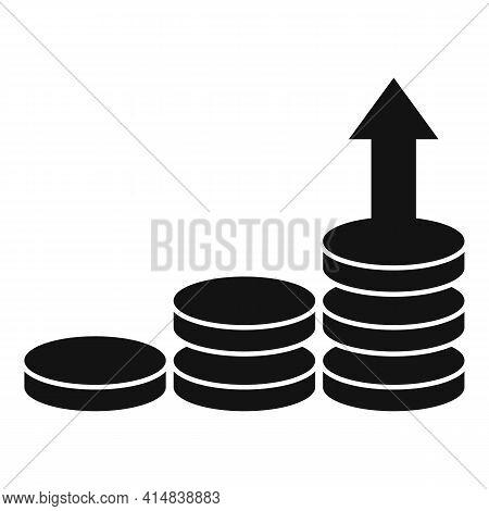 Broker Money Rise Icon. Simple Illustration Of Broker Money Rise Vector Icon For Web Design Isolated