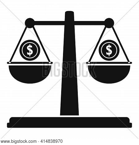 Broker Money Balance Icon. Simple Illustration Of Broker Money Balance Vector Icon For Web Design Is