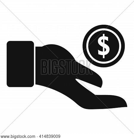 Take Money Coin Icon. Simple Illustration Of Take Money Coin Vector Icon For Web Design Isolated On