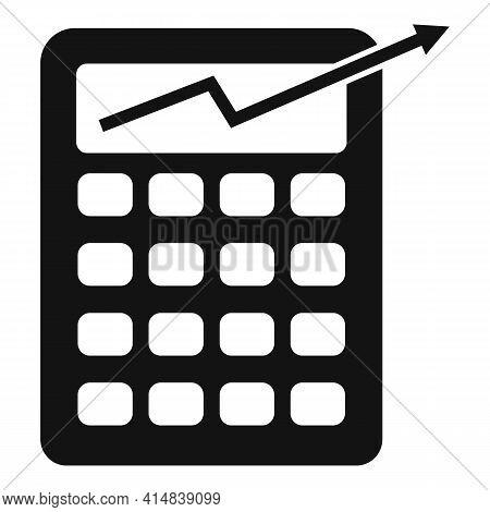 Broker Money Calculator Icon. Simple Illustration Of Broker Money Calculator Vector Icon For Web Des