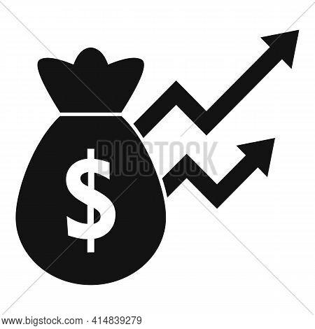 Broker Money Bag Icon. Simple Illustration Of Broker Money Bag Vector Icon For Web Design Isolated O