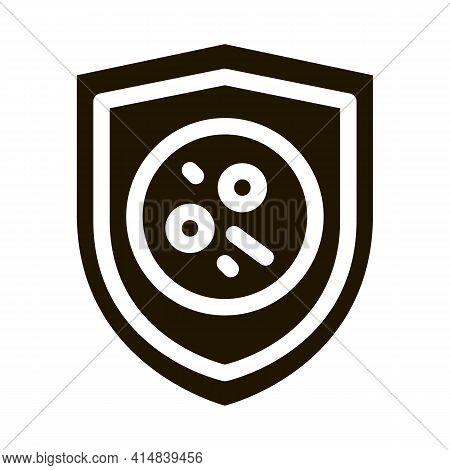 Dermatitis Problem Glyph Icon Vector. Dermatitis Problem Sign. Isolated Symbol Illustration