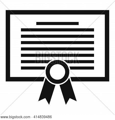 Broker Diploma Icon. Simple Illustration Of Broker Diploma Vector Icon For Web Design Isolated On Wh
