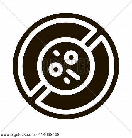 Dermatitis Prohibition Glyph Icon Vector. Dermatitis Prohibition Sign. Isolated Symbol Illustration