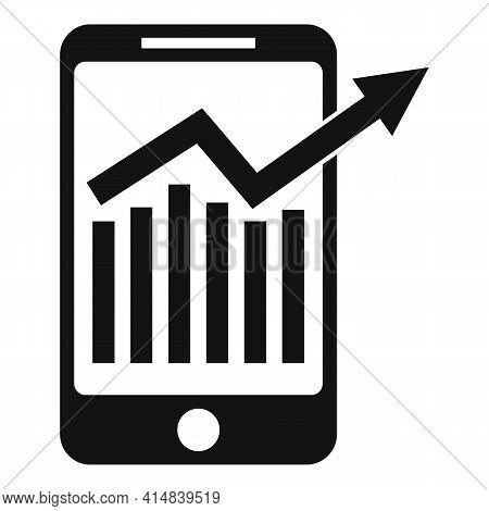 Broker Smartphone Icon. Simple Illustration Of Broker Smartphone Vector Icon For Web Design Isolated