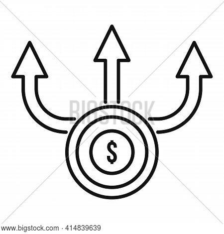 Broker Money Scheme Icon. Outline Broker Money Scheme Vector Icon For Web Design Isolated On White B