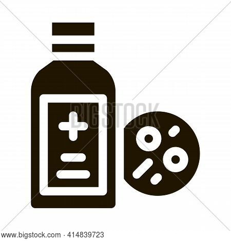 Medical Bottle For Dermatitis Glyph Icon Vector. Medical Bottle For Dermatitis Sign. Isolated Symbol