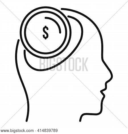 Broker Money Idea Icon. Outline Broker Money Idea Vector Icon For Web Design Isolated On White Backg