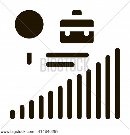 Career Advancement Research Glyph Icon Vector. Career Advancement Research Sign. Isolated Symbol Ill
