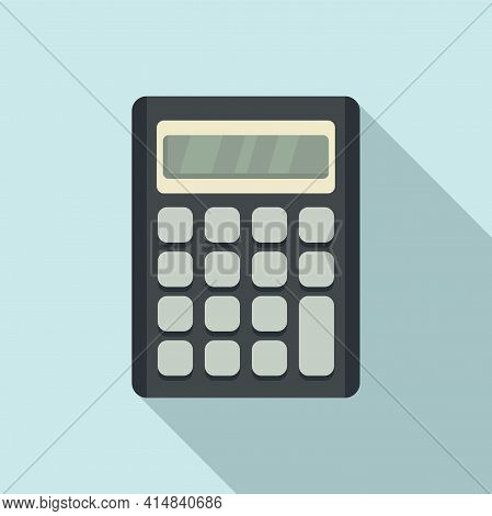 Accounting Calculator Icon. Flat Illustration Of Accounting Calculator Vector Icon For Web Design