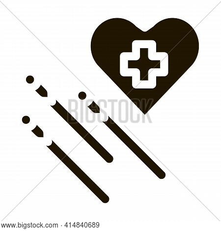 Acupuncture For Heart Work Icon Vector Illustration