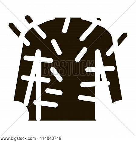 Acupuncture Throughout Body Glyph Icon Vector. Acupuncture Throughout Body Sign. Isolated Symbol Ill