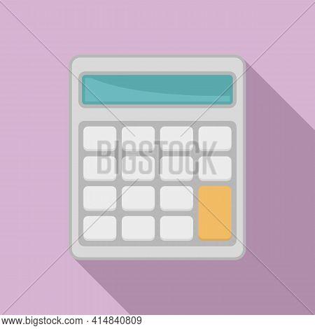 Math Calculator Icon. Flat Illustration Of Math Calculator Vector Icon For Web Design