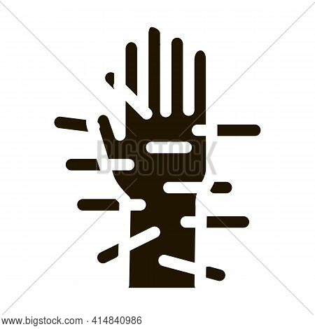 Acupuncture Hands Glyph Icon Vector. Acupuncture Hands Sign. Isolated Symbol Illustration