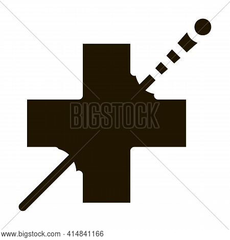 Medical Benefits Of Acupuncture Glyph Icon Vector. Medical Benefits Of Acupuncture Sign. Isolated Sy