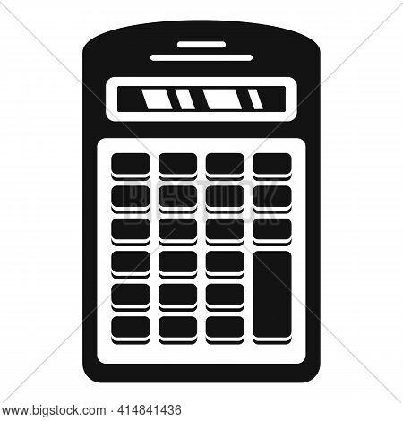 Finance Calculator Icon. Simple Illustration Of Finance Calculator Vector Icon For Web Design Isolat
