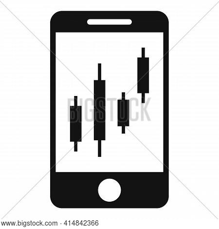 Trader Smartphone Icon. Simple Illustration Of Trader Smartphone Vector Icon For Web Design Isolated