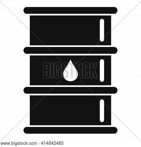 Trade Oil Barrel Icon. Simple Illustration Of Trade Oil Barrel Vector Icon For Web Design Isolated O