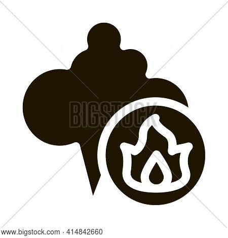 Liquefied Gas Comes Into Cloud Glyph Icon Vector. Liquefied Gas Comes Into Cloud Sign. Isolated Symb