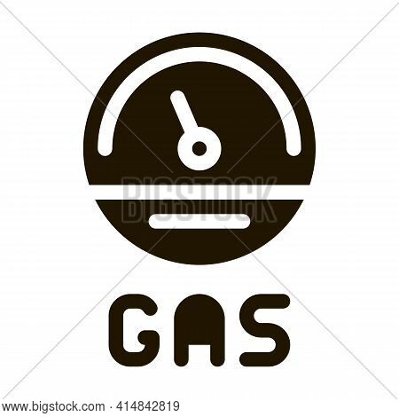 Engine Gas Indicator Glyph Icon Vector. Engine Gas Indicator Sign. Isolated Symbol Illustration