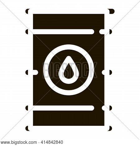 Tightly Closed Gas Barrel Glyph Icon Vector. Tightly Closed Gas Barrel Sign. Isolated Symbol Illustr