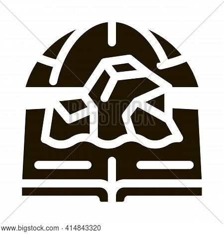 Glaciology Science Glyph Icon Vector. Glaciology Science Sign. Isolated Symbol Illustration