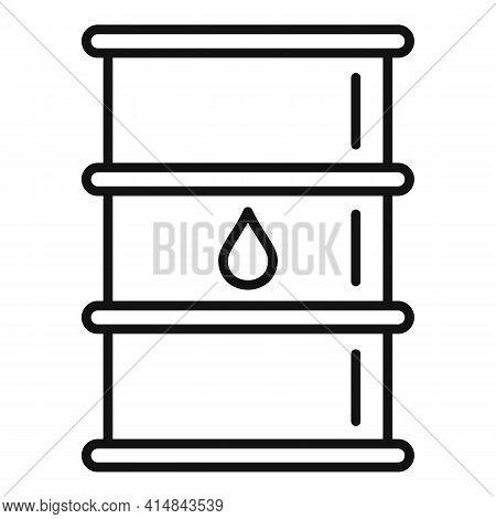 Trade Oil Barrel Icon. Outline Trade Oil Barrel Vector Icon For Web Design Isolated On White Backgro