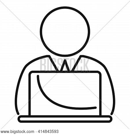 Home Trader Work Icon. Outline Home Trader Work Vector Icon For Web Design Isolated On White Backgro