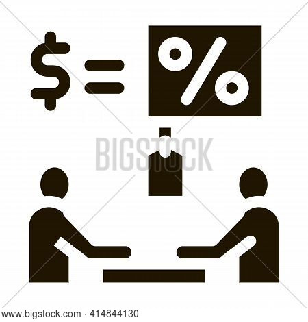 Negotiation Table Interest And Money Icon Vector Illustration