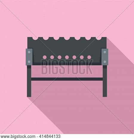 Coal Brazier Icon. Flat Illustration Of Coal Brazier Vector Icon For Web Design