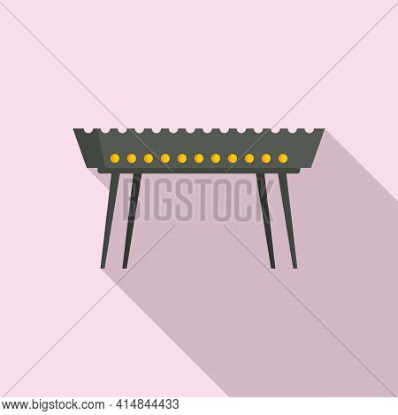 Beef Brazier Icon. Flat Illustration Of Beef Brazier Vector Icon For Web Design