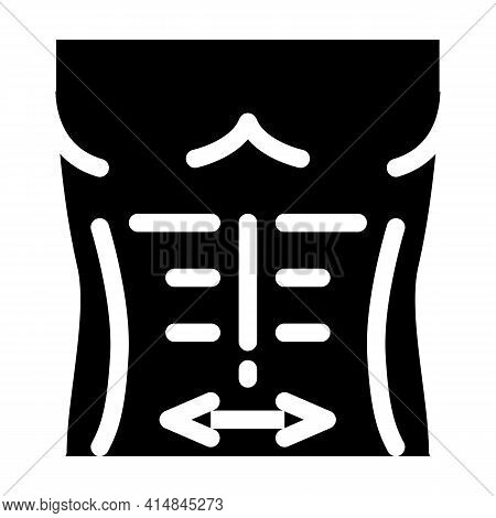 Smoothing Abdominal Muscles Glyph Icon Vector. Smoothing Abdominal Muscles Sign. Isolated Symbol Ill
