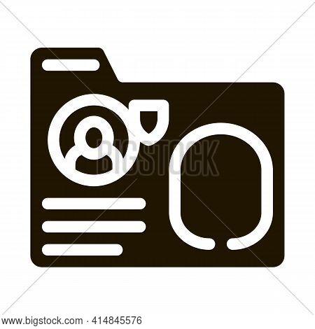 Fingerprint Base Glyph Icon Vector. Fingerprint Base Sign. Isolated Symbol Illustration