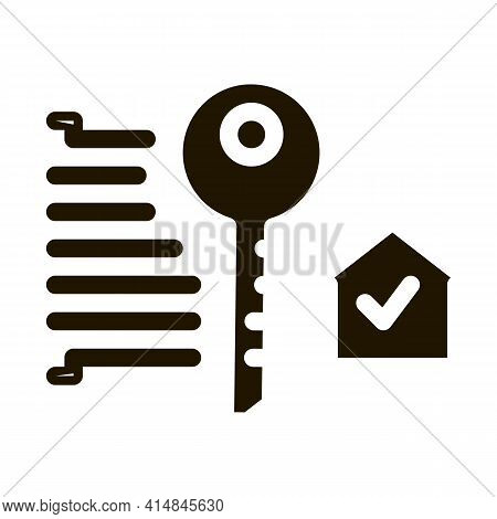 Security Key Glyph Icon Vector. Security Key Sign. Isolated Symbol Illustration