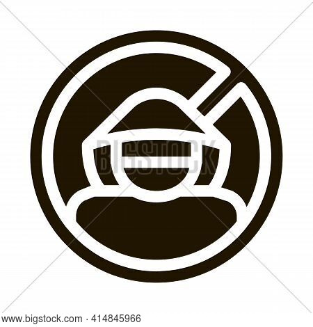 Criminal Cracker Glyph Icon Vector. Criminal Cracker Sign. Isolated Symbol Illustration