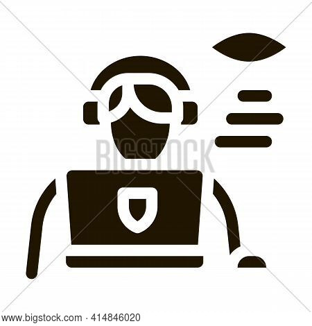 Lawyer And Policeman Glyph Icon Vector. Lawyer And Policeman Sign. Isolated Symbol Illustration