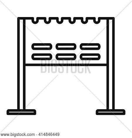 Bonfire Brazier Icon. Outline Bonfire Brazier Vector Icon For Web Design Isolated On White Backgroun