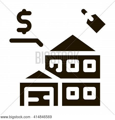 Auction House Glyph Icon Vector. Auction House Sign. Isolated Symbol Illustration