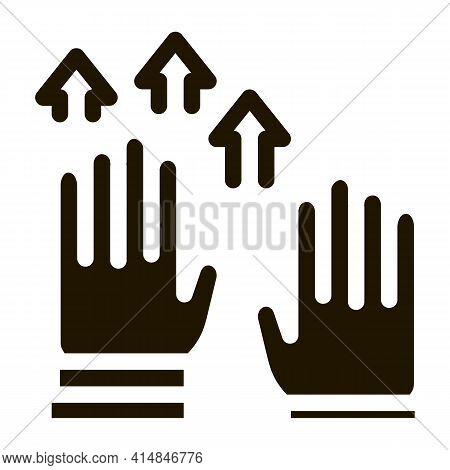 Raising Hands Glyph Icon Vector. Raising Hands Sign. Isolated Symbol Illustration