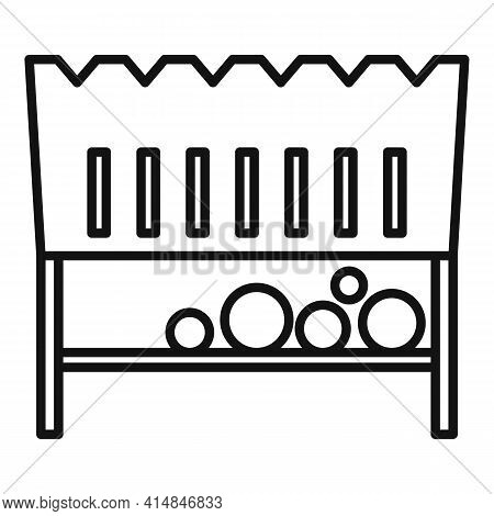 Pan Brazier Icon. Outline Pan Brazier Vector Icon For Web Design Isolated On White Background