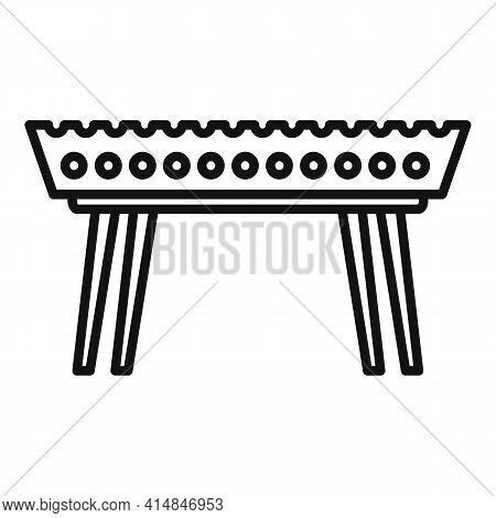 Beef Brazier Icon. Outline Beef Brazier Vector Icon For Web Design Isolated On White Background