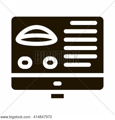 Computer Vision Analysis Glyph Icon Vector. Computer Vision Analysis Sign. Isolated Symbol Illustrat